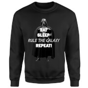 Star Wars Eat Sleep Rule The Galaxy Repeat Sweatshirt - Black