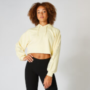 Icon Cropped Hoodie - Lemon