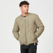Pro-Tech Quilted Bomber Jacket - Light Olive