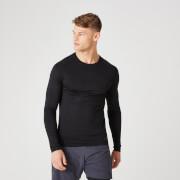 Elite Seamless Long-Sleeve T-Shirt – Black