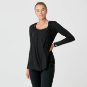 Myprotein Twist Long Sleeve T-Shirt - Black