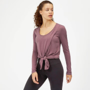 Twist Long Sleeve T-Shirt - Mauve