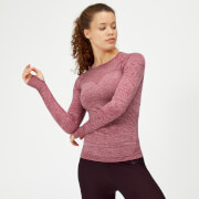Inspire Seamless Long Sleeve Top - Dusty Rose