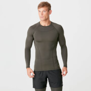 Charge Compression Long Sleeve Top - Dark Khaki