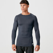 Charge Compression Long Sleeve Top - Navy Marl