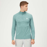 Myprotein Performance 1/4 Zip Top - Airforce Blue Marl