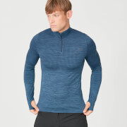 Sculpt Seamless 1/4 Zip Top - Petrol Blue