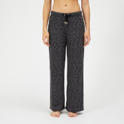 Luxe Lounge Boyfriend Joggers - Black Heather