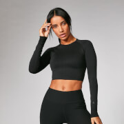 Myprotein Shape Seamless Crop Top - Black