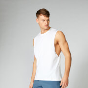 Luxe Classic Drop Armhole Tank Top - White