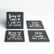Coffee Handwritten Coasters (Pack of 4)