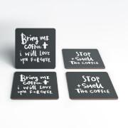 Coffee Handwritten Coasters (Pack of 4)