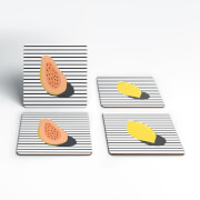 Papaya And Lemon Coasters (Pack of 4)