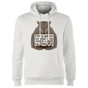 Sorry For What I Said When I Was Hungry Hoodie - White