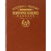 Rangers Newspaper Book - Brown Leatherette