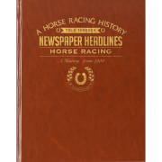 Horse Racing Newspaper Book - Brown Leatherette