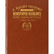 Challenge Cup Rugby Newspaper Book - Brown Leatherette