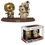 Figurine Pop! Movie Moment - Rencontre Sur Endor - C3PO & Ewok - Star Wars