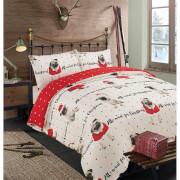 Dreamscene All I Want For Christmas Pug Duvet Cover Set - Multi
