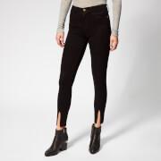 Frame Denim Women's Le High Skinny Front Split Jeans - Film Noir - W25 - Black
