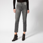Frame Denim Women's Le High Straight Fit Jeans - Hunt - W25 - Black