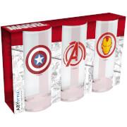 Marvel Set of 3 Glasses