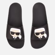 Karl Lagerfeld Men's Kondo Karl Ikonic Slide Sandals - Black