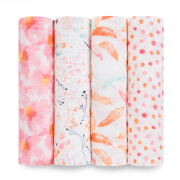 aden + anais Classic Swaddle 4 Pack Petal Blooms
