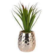 Pinapple Pot with Aloe Vera - Rose Gold