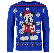 My Geek Box Exclusive Mickey Mouse Knitted Christmas Jumper - Blue