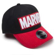 Marvel Red Brick Logo Curved Bill Cap - Black