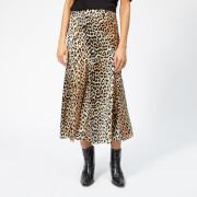 Ganni Women's Blakely Silk Skirt - Leopard - EU 34/UK 6 - Multi