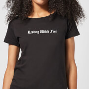 Halloween Resting Witch Face Women's T-Shirt - Black
