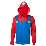 Nintendo Super Mario Men's Novelty Hoody - Blue