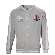 PlayStation Sony Men's Baseball Jacket - Grey