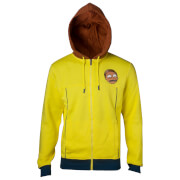 Rick and Morty Men's Logo Zip Through Hoody - Yellow