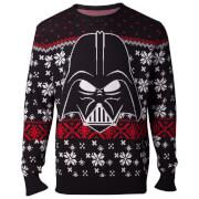 Star Wars Darth Vader Christmas Knitted Jumper - Black