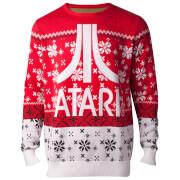 Atari Logo Christmas Knitted Jumper - Red