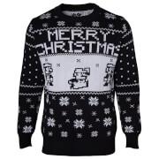 Nintendo Super Mario Fairisle Christmas Jumper - Black