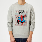 Marvel Avengers Classic Spider Man Christmas Sweatshirt   Grey   S   Grey