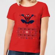 Marvel Avengers Spider-Man Womens Christmas T-Shirt - Red - M - Red