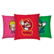 Official Nintendo Super Mario Kanji Cushion Cover Bundle - 3 Pack