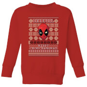Marvel Deadpool Kids Christmas Sweater - Red