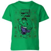 Marvel Avengers Hulk Kids Christmas T-Shirt - Kelly Green