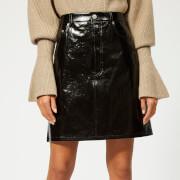 Helmut Lang Women's Patent Leather Five Pocket Skirt - Black - US 6/M - Black