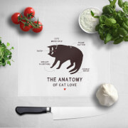 The Anatomy Of Cat Love Chopping Board image
