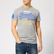 Superdry Men's Shirt Shop Tri T-Shirt - Montana Grey