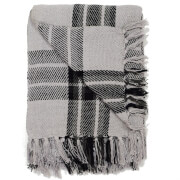 Rapport Highland Check Throw - Black