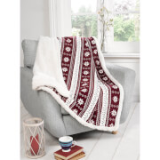 Rapport Alpine Fleece Blanket Throw - Red