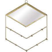 Sass & Belle Gold Diamond Jewellery Holder with Mirror